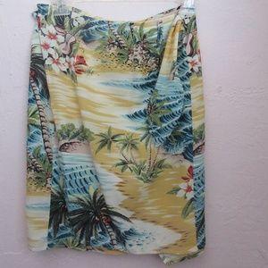 A.Gold E. Event AGOLDE Mini Hawiian Wrap Skirt